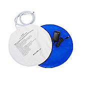 Pawhut Dog Bed Electric Whelping Box heat Pad With Cover Round Blue