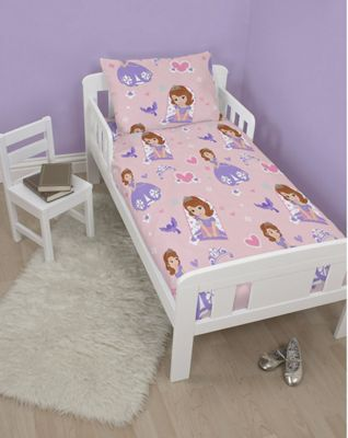 Disney Sofia the First Academy Rotary Junior Cot Bed Duvet Quilt Cover Set
