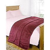 Dreamscene Large Faux Fur Mink Blanket Fleece Throw Over Sofa Bed Soft Warm - Pink
