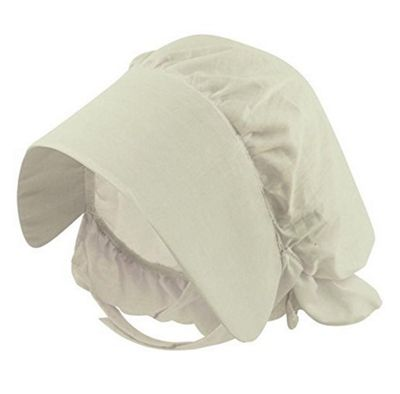 Childs Fancy Dress White Victoria Bonnet Hat