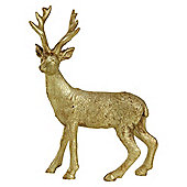 15cm Gold Polyresin Standing Stag Christmas Ornament
