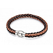 Men's Fred Bennett Brown Leather and Cord Bracelet