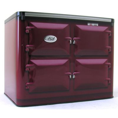 Aga Embossed Oven Tin Red