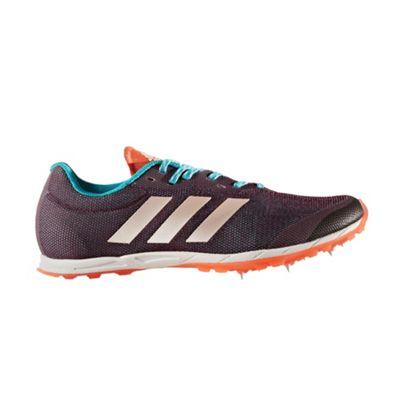 adidas XCS Womens Cross Country Running Spike Shoe Red Night - UK 3.5