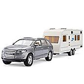 Toyrific Mighty Motors Die-Cast Car and Caravan