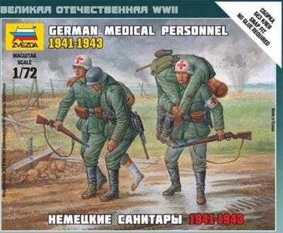 German Medical Personnel 1941-1943 - 1:72 Scale - 6143 - Model Kit - Zvezda