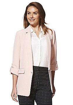 F&F Open Front Girlfriend Blazer - Blush pink