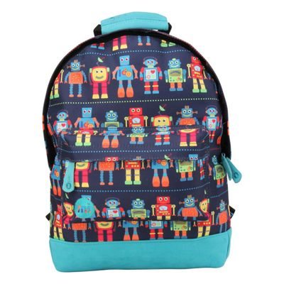 Toddler Mi Pac Mini Backpack - Colourful Robots, Toddler Backpack, Mini Backpacks for Kids