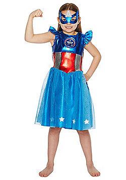 Marvel Captain America Dress-Up Costume - Blue & Red