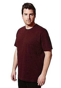 Jacamo Crew Neck T-Shirt - Burgundy