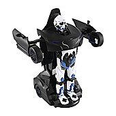 Homcom Remote Control Car Transformer Robot Deformation w/ Light & Sound (Black)