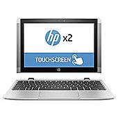 "HP 10.1"" 10-p002na X2  Intel Atom X5 4GB RAM 64GB eMMC Storage 2 in 1 detachable Silver Laptop"