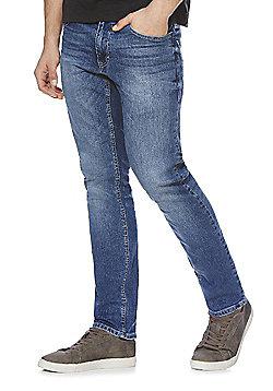 F&F Slim Fit Stretch Jeans - Mid wash