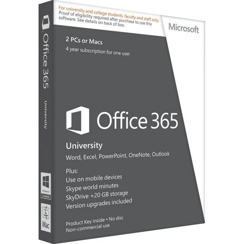 Microsoft Office 365 University 4 Year Subscription