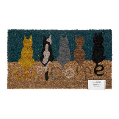 Homescapes Coir Welcome Cats Doormat