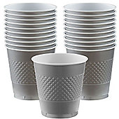 Silver Cups - 473ml Plastic Party Cups - 20 Pack