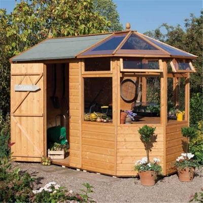 10 x 6 Potting Shed Wooden Shed (T&G Floor) (10ft x 6ft)