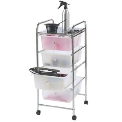 VonHaus 4 Drawer Storage Trolley for Home & Office in White
