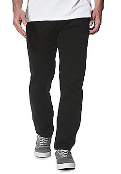 F&F Stretch Straight Leg Chinos - Black