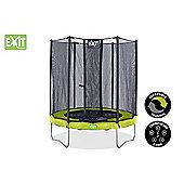 8ft Twist Trampoline Green / Grey