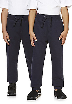 F&F Unisex Slim Leg Cuffed Joggers - Navy