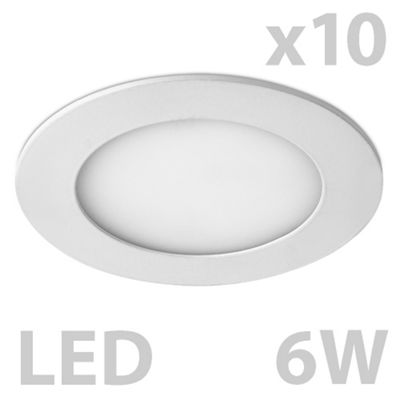 Pack of 10 MiniSun Cobra Round 6W LED Downlights, Warm White
