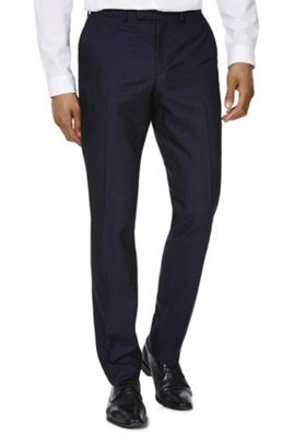 F&F Twill Slim Fit Trousers 40 Waist 29 Leg Navy