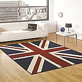 Retro Funky Buckingham Red/White/Blue 120x160 cm Rug