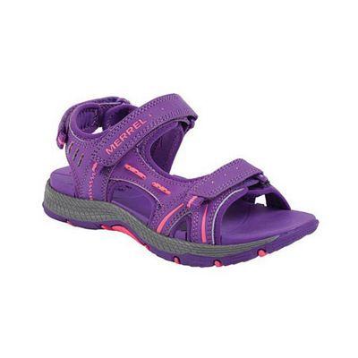 Merrell Kids Panther Sandal Purple 6