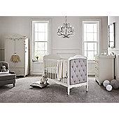 Mee-Go Sleep Epernay 3 Piece Nursery Room Set plus Sprung Mattress - Ivory White