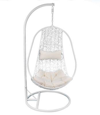 Bentley Garden White Rattan Swing Chair