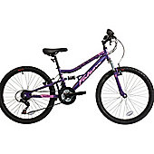 Falcon Siren 2016 Girls 24″ Full Suspension Mountain Bike
