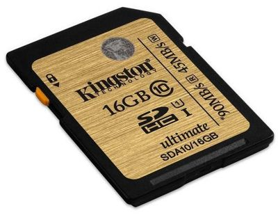 Kingston 16 GB SDHC Class 10 Ultimate High Speed Memory Card SDA10/16GB