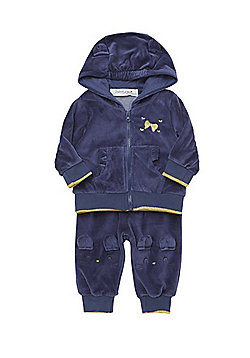 Babaluno Velour Mouse Hoodie and Joggers Set - Blue
