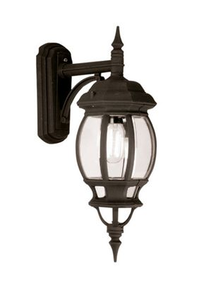 Seville Down Wall Lantern Black