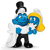 Schleich Smurfs Bride and Groom