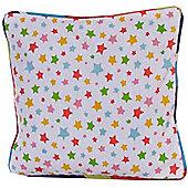 Homescapes Cotton Multi Colour Stars Cushion Cover, 30 x 30 cm