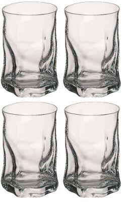 Bormioli Rocco Sorgente Whisky Tumbler Glasses - 300ml (10.5oz) - Set of 4