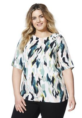 Junarose Paint Print Plus Size Top Multi 26