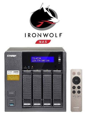 QNAP TS-453A-8G/4TB-IW 4-Bay 4TB(4x1TB Seagate IronWolf) Network Attached Storage