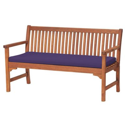 Purple 3 Seater Garden Bench / Swing Seat Cushion Pad Outdoor