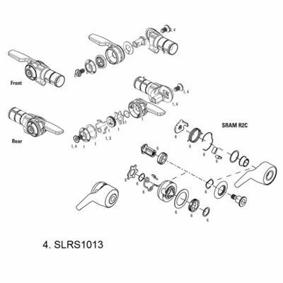 SRAM Bar Lock Assy TT900/TT500 Rear