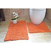 Rapport 2 Piece Bath Mat Set - Orange