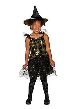 F&F Sparkle Witch Halloween Costume - Black