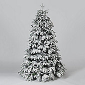 6ft Cascade Flocked Artificial Pine Christmas Tree