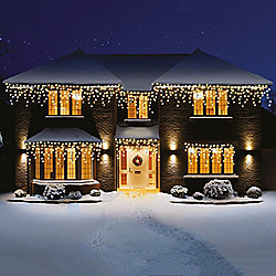Premier Snowing Led Icicle Lights 360 Warm White