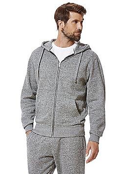 F&F Textured Marl Hoodie - Grey