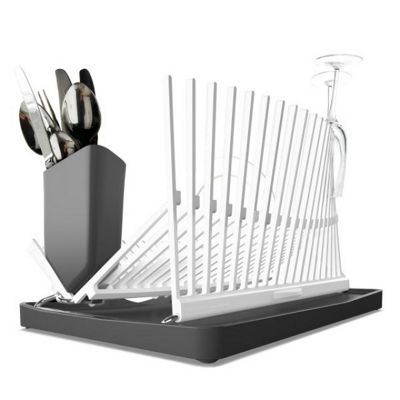 Black + Blum Forminimal High & Dry Dish Rack, White