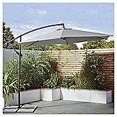Tesco Grey 3m Cantilever Parasol