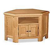 Zelah Corner TV Stand - Rustic Oak